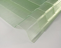 FRP transparent corrugated sheet