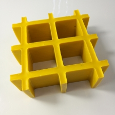 China 25mm Thickness Yellow Concave Fiberglass Reinforced Plastic FRP Grating factory