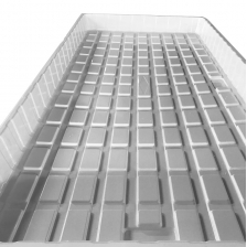 China China Customized Black White ABS HIPS Plastic 3x6 4x6 4x8 Hydroponic NFT Tray Manufacturer factory