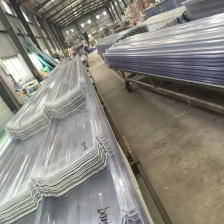 China Transparent Clear Flat and Corrugated Fiberglass Reinforced Plastic GRP FRP Roofing Sheet For Sale factory